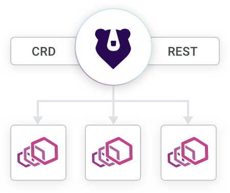 CRD + RESTful Interface diagram